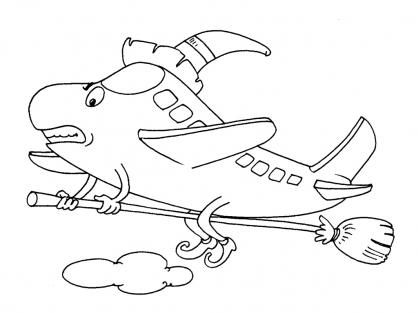 Coloriage Avion 28
