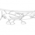 Coloriage Avion 3