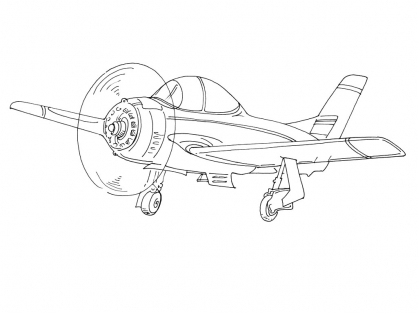 Coloriage Avion 4