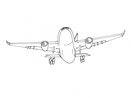 Coloriage Avion 5