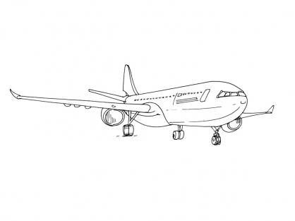 Coloriage Avion 6