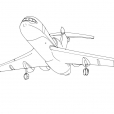 Coloriage Avion 7