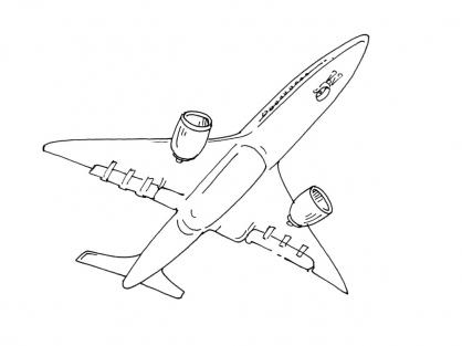 Coloriage Avion 8