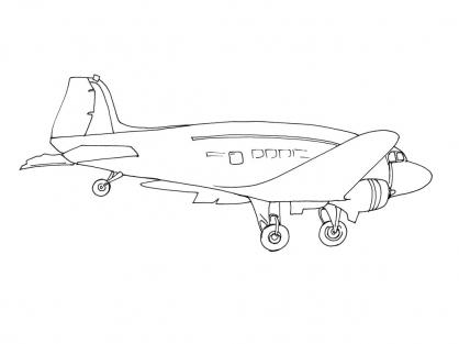 Coloriage Avion 9