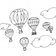 Coloriage Ballon dirigeable 10