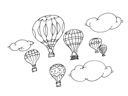 Coloriage Ballon dirigeable 10