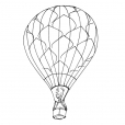 Coloriage Ballon dirigeable 11