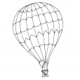Coloriage Ballon dirigeable 12