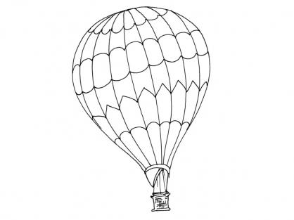 Coloriage Ballon dirigeable 12