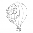 Coloriage Ballon dirigeable 13