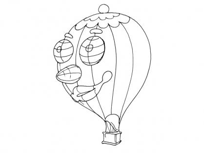 Coloriage Ballon dirigeable 13