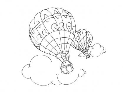 Coloriage Ballon dirigeable 15
