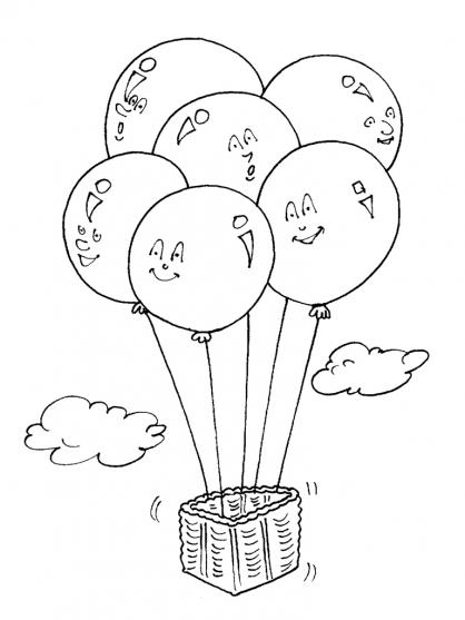 Coloriage Ballon dirigeable 16