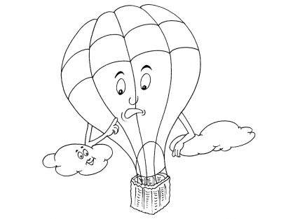 Coloriage Ballon dirigeable 18