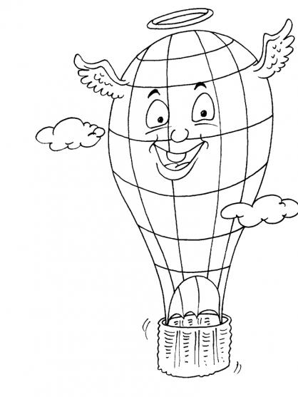 Coloriage Ballon dirigeable 19