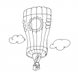 Coloriage Ballon dirigeable 2