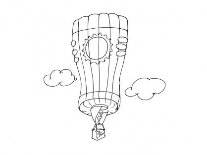 Coloriage Ballon dirigeable 2