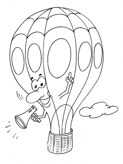Coloriage Ballon dirigeable 20