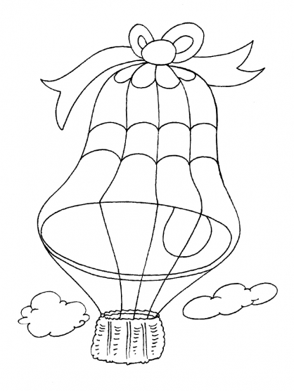 Coloriage Ballon dirigeable 26