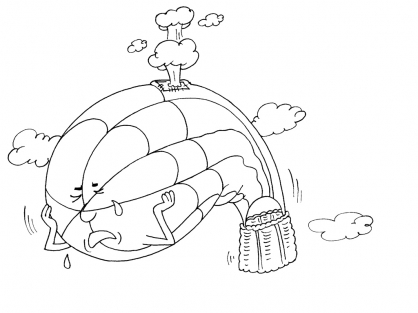 Coloriage Ballon dirigeable 28