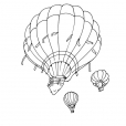 Coloriage Ballon dirigeable 3