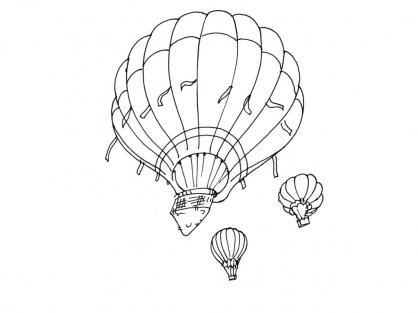 Coloriage ballon dirigeable 3 coloriage ballons - Ballon coloriage ...