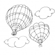 Coloriage Ballon dirigeable 4