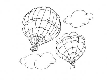 Coloriage Ballon dirigeable 4