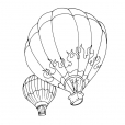 Coloriage Ballon dirigeable 5