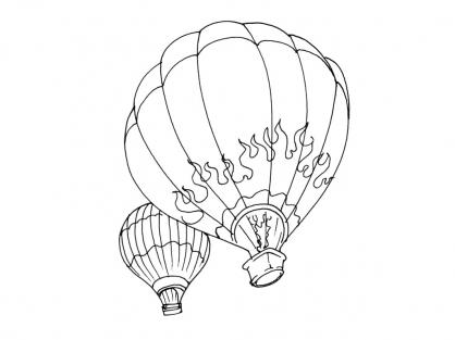 Coloriage Ballon dirigeable 5