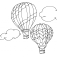 Coloriage Ballon dirigeable 6