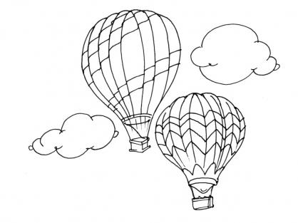 Coloriage Ballon dirigeable 6