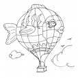 Coloriage Ballon dirigeable 7