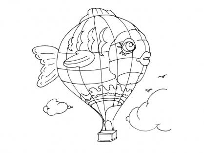Coloriage ballon dirigeable 7 coloriage ballons - Ballon coloriage ...
