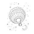 Coloriage Ballon dirigeable 8