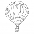 Coloriage Ballon dirigeable 9