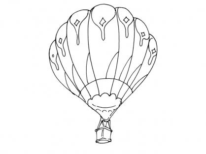 Coloriage Ballon dirigeable 9