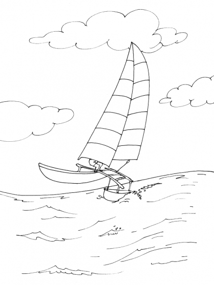 Coloriage bateau 1 coloriage bateaux coloriage transports - Coloriage bateau ...