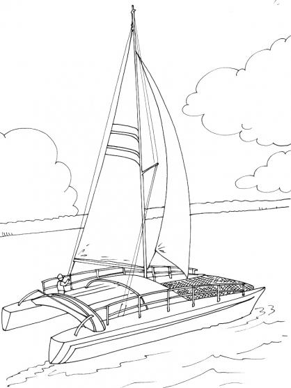 Coloriage bateau 15 coloriage bateaux coloriage transports - Coloriage bateau ...