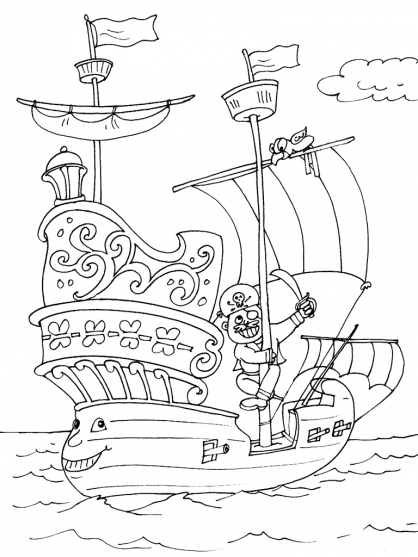 Coloriage bateau 17 coloriage bateaux coloriage transports - Coloriage bateau ...