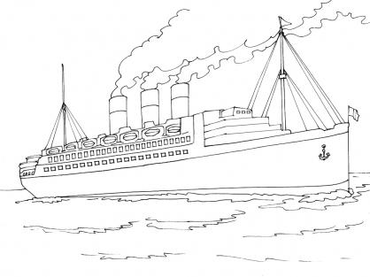 Bateau croisi re coloriage - Coloriage bateau ...