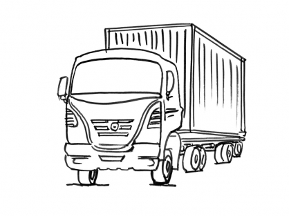 Coloriage Camion 10