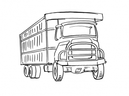 Coloriage Camion 12