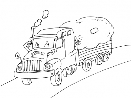 Coloriage Camion 17