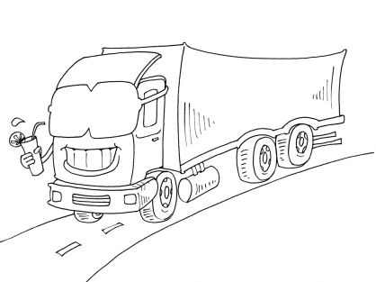 Coloriage Camion 18