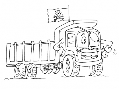Coloriage Camion 19