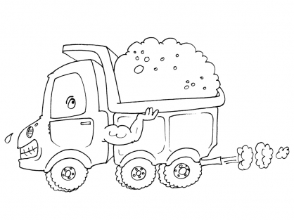 Coloriage Camion 21