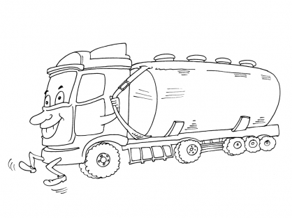 Coloriage Camion 23