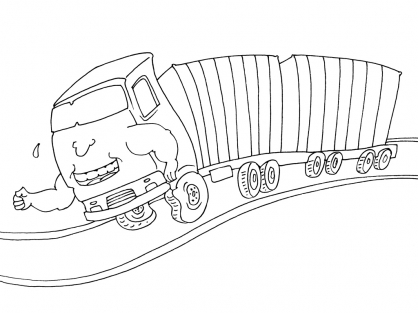 Coloriage Camion 24