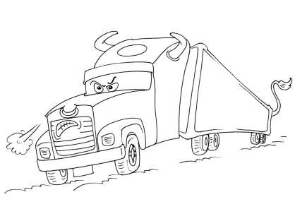 Coloriage Camion 25